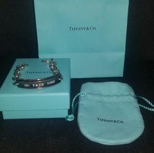 Authentic Tiffany & co silver chain bracelet